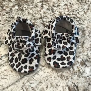 Other - Leopard Baby Moccasins